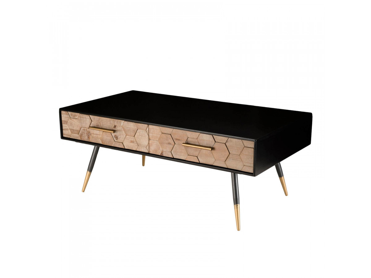 Table basse scandi Sapin marqueté BUBA