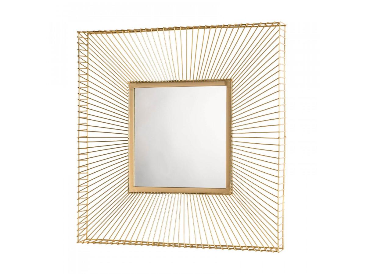 Miroir carré métal doré JIOSA