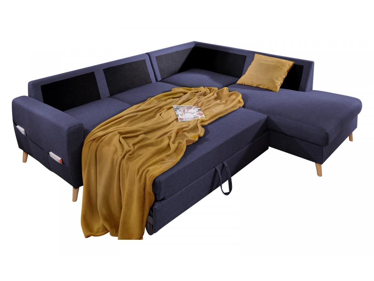 Canapé d'angle convertible L SCANDI