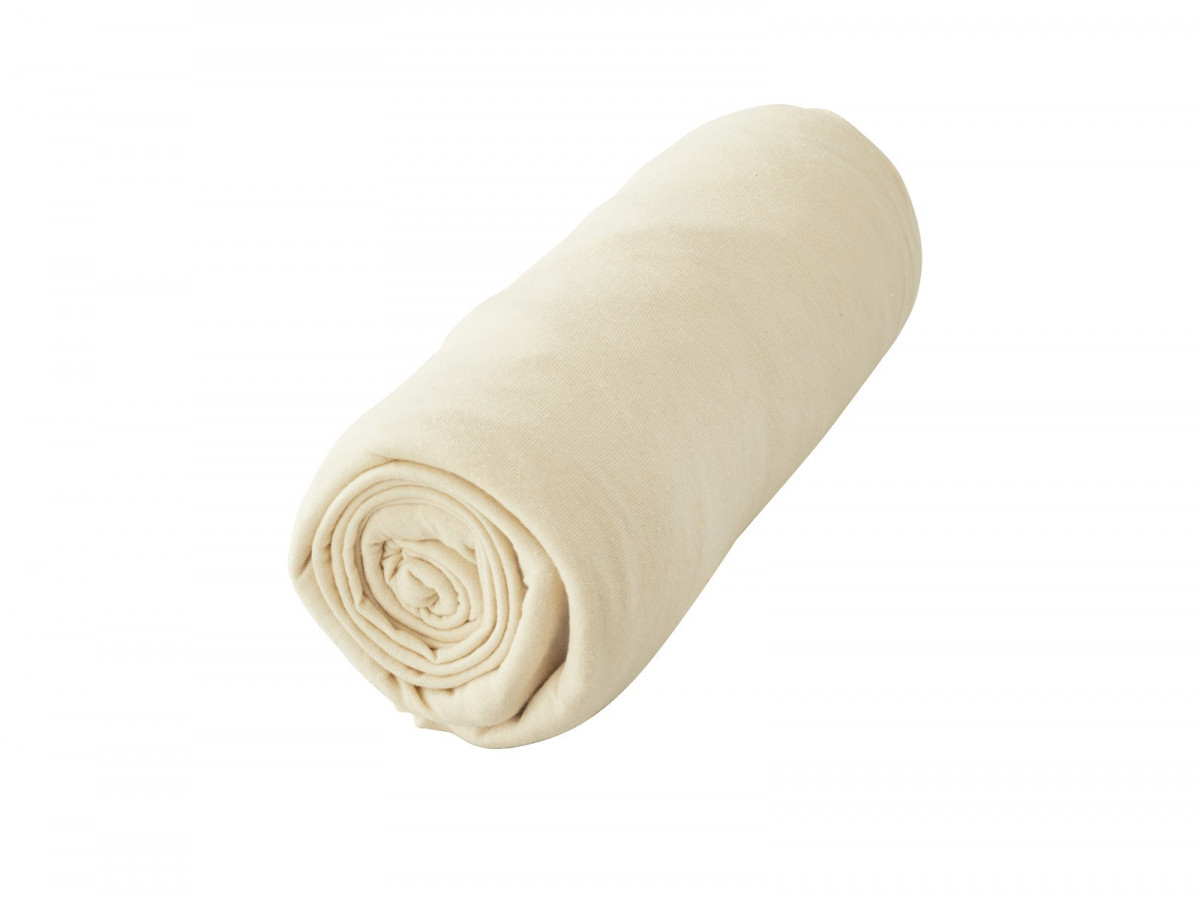 Deux draps-housses crème 200 x 200