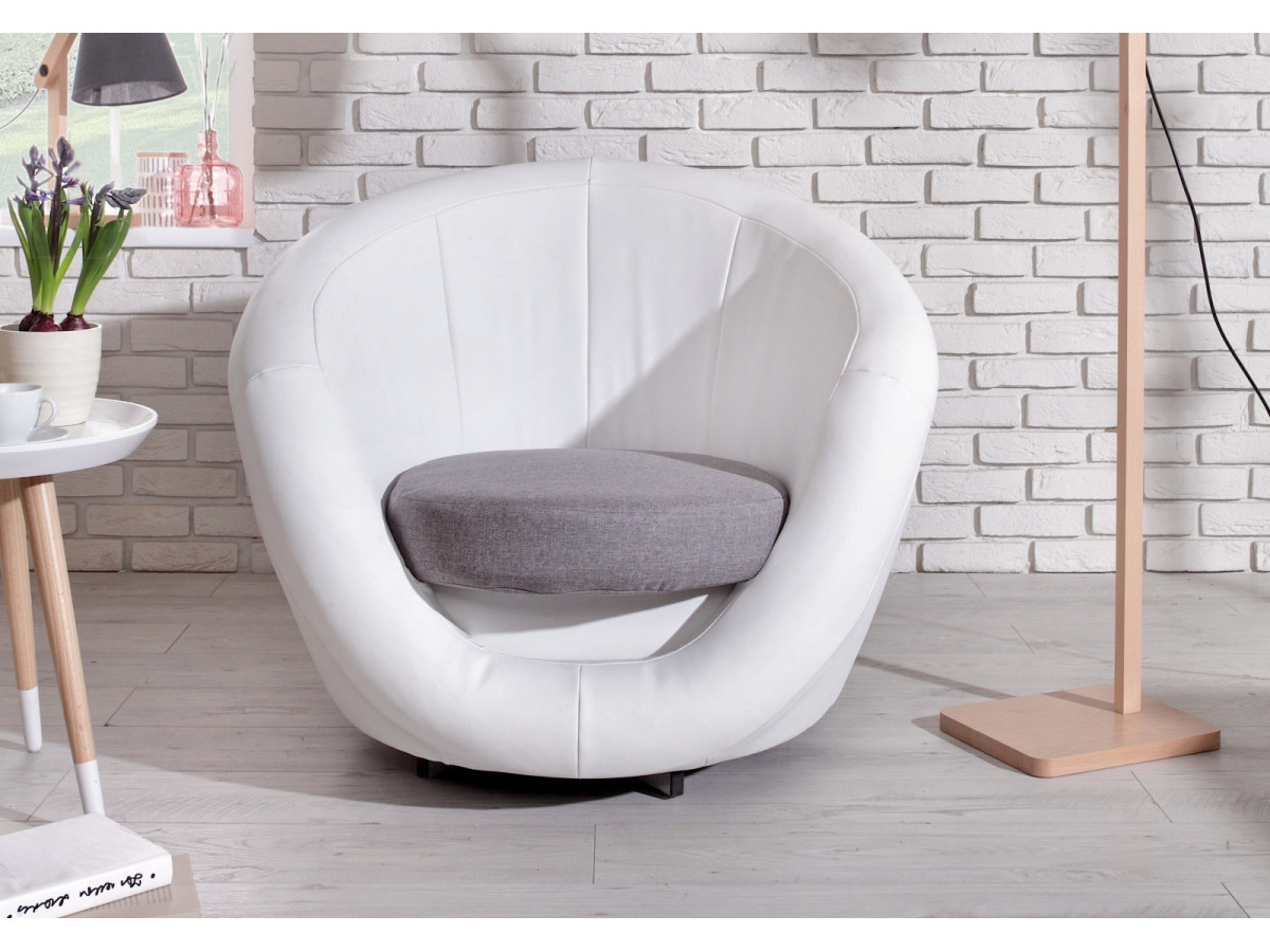 Fauteuil touché cuir OVO