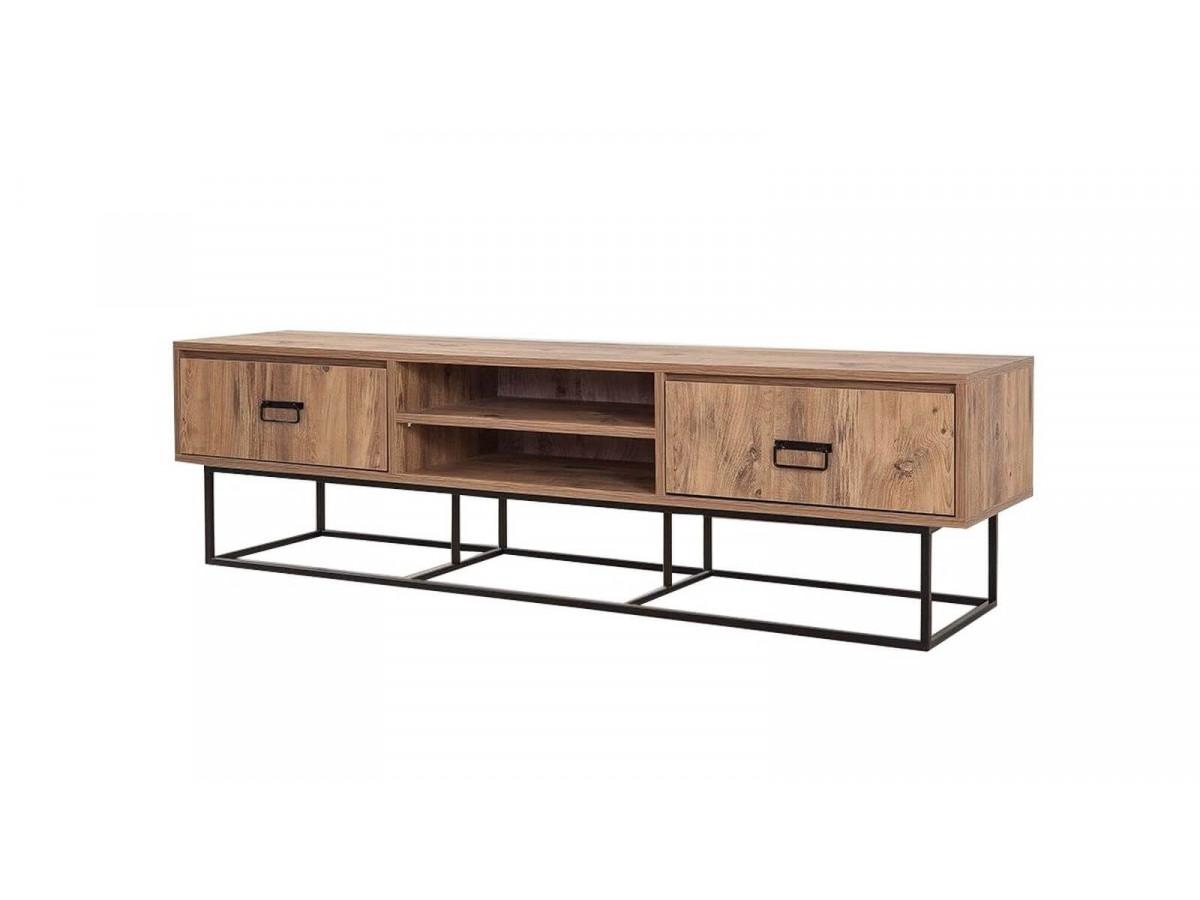Meuble télé et deux tiroirs en bois KOHI