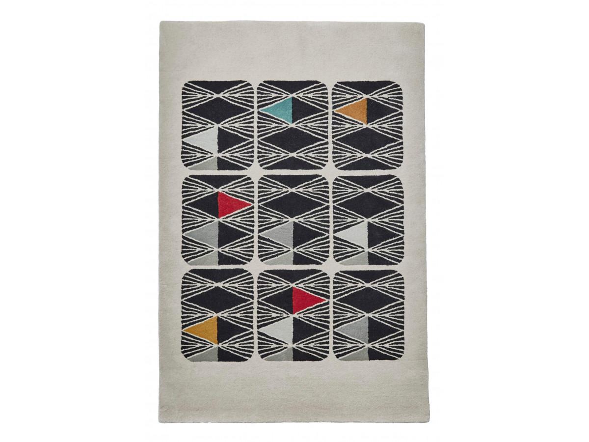 Tapis PERIG Multicolor / Ivoir / Noir 120 x 170