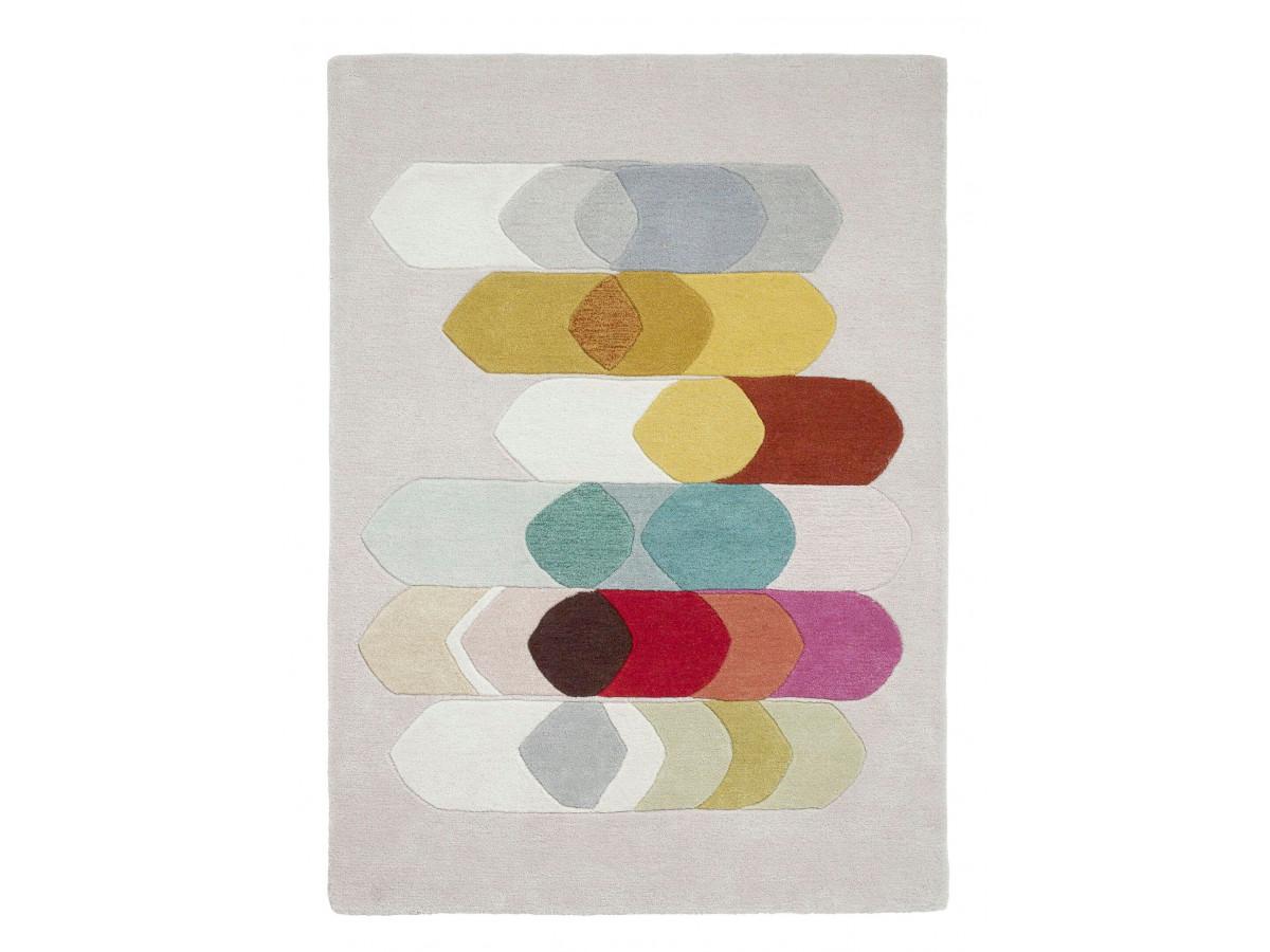 Tapis PERIG Multicolor / Crème / Gris / Rouge 150 x 230