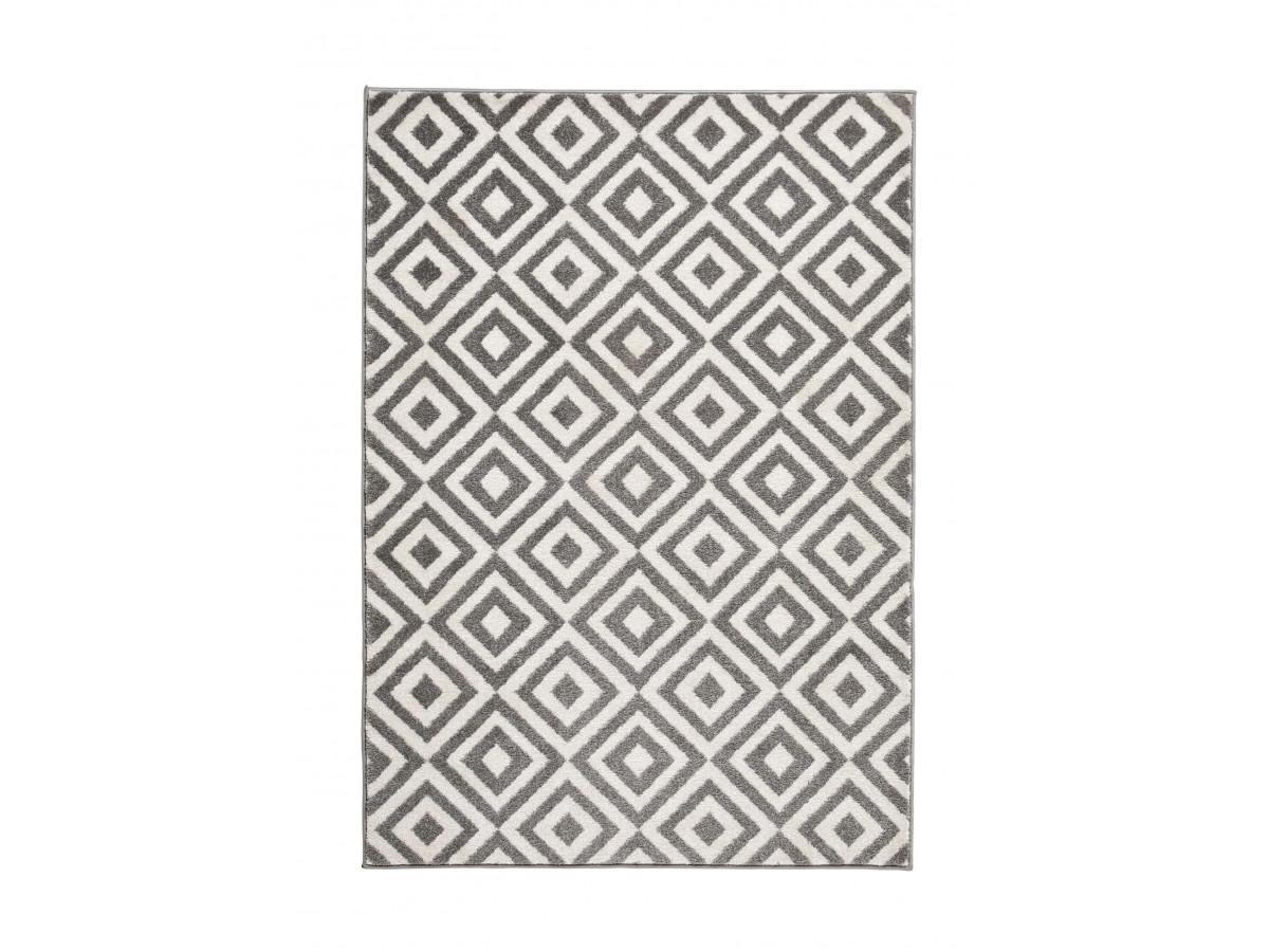 Tapis QUIM Gris / Blanc 180 x 290