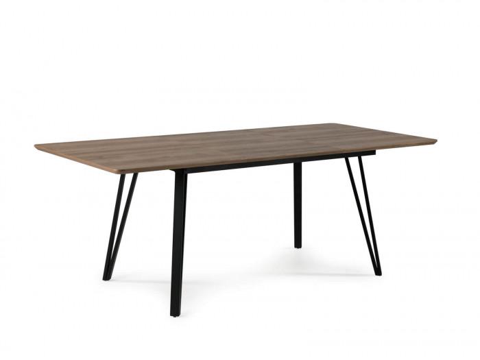 Table BOGOTA chêne rustique/ noir 140 x 90