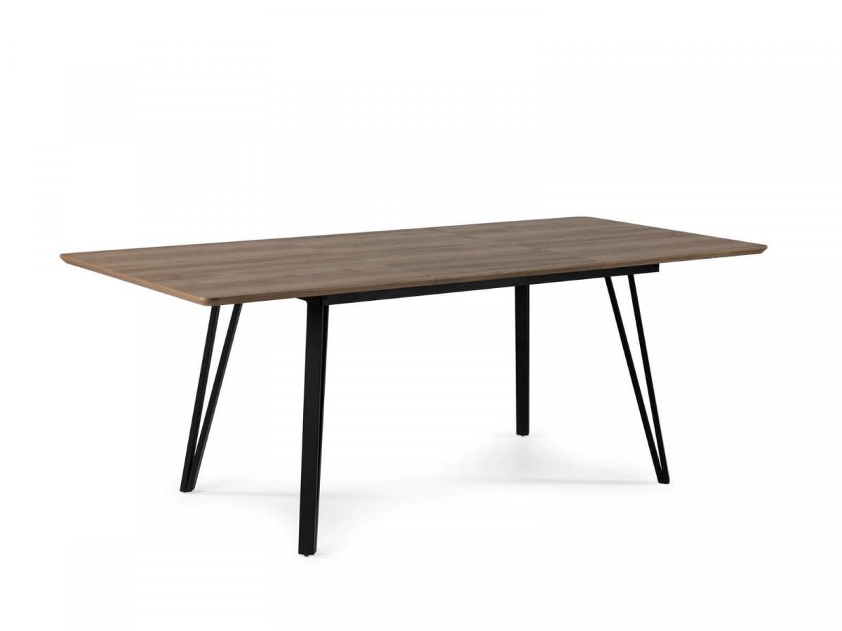 Table extensible 140/200 cm BOGOTA Couleur bois Chêne et Noir