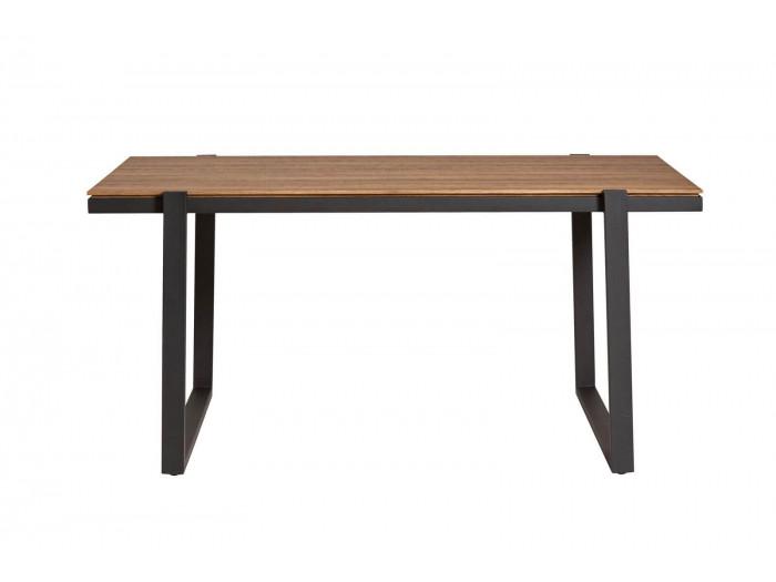 Table LAURA marron / noir 160 x 90