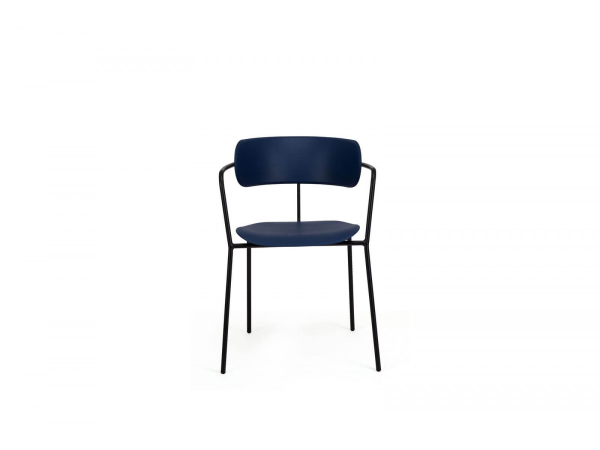 Ensemble de 4 chaises FONTI Bleu navy