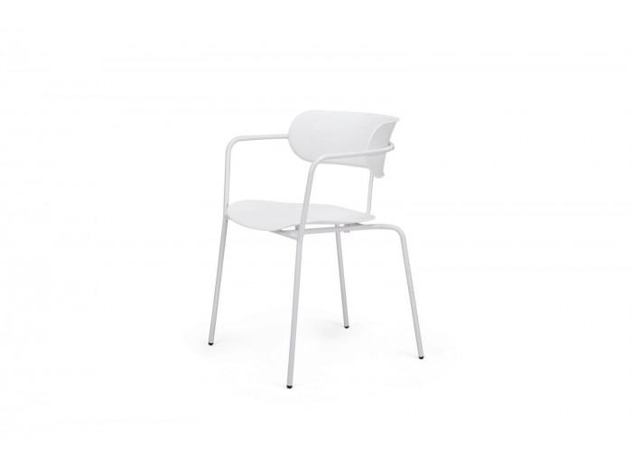 Ensemble de 4 chaises FONTI Blanc