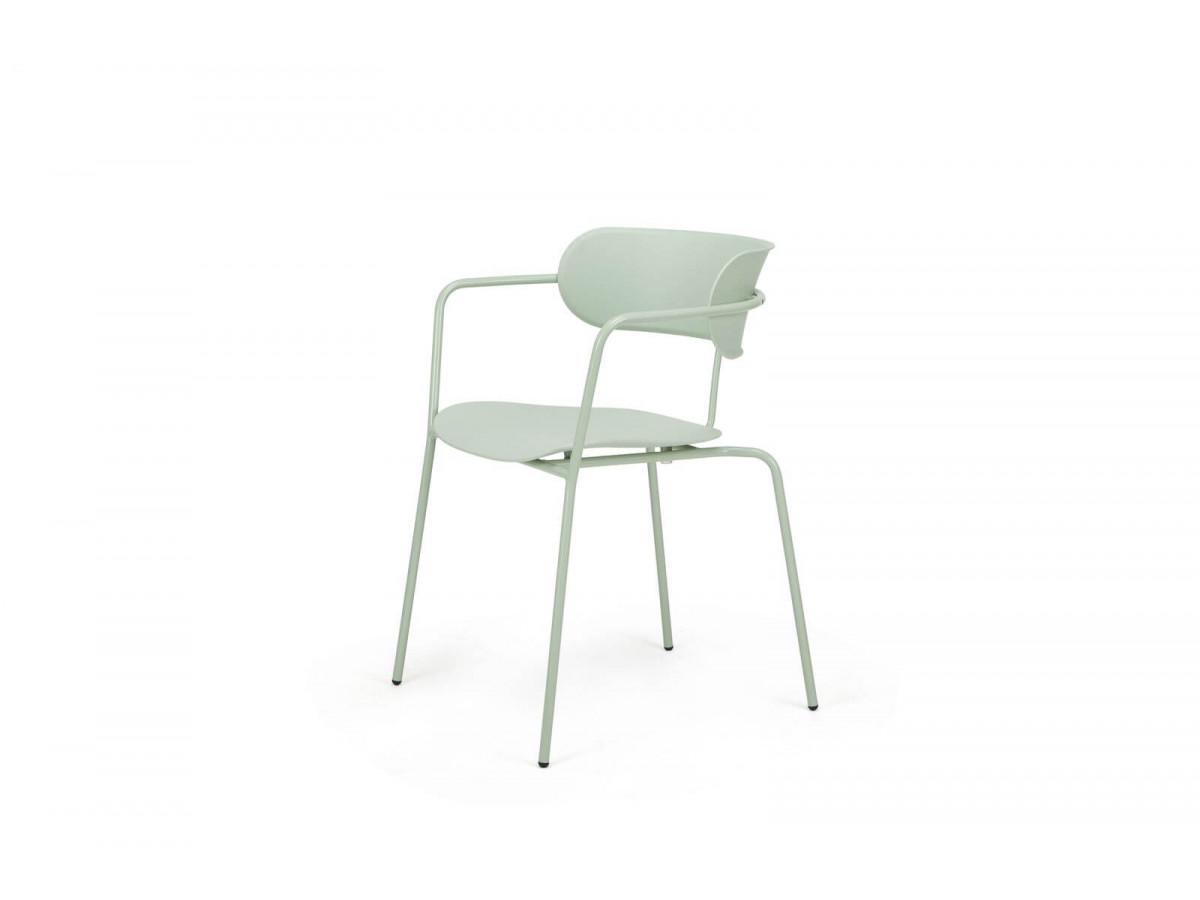 Ensemble de 4 chaises FONTI vert clair