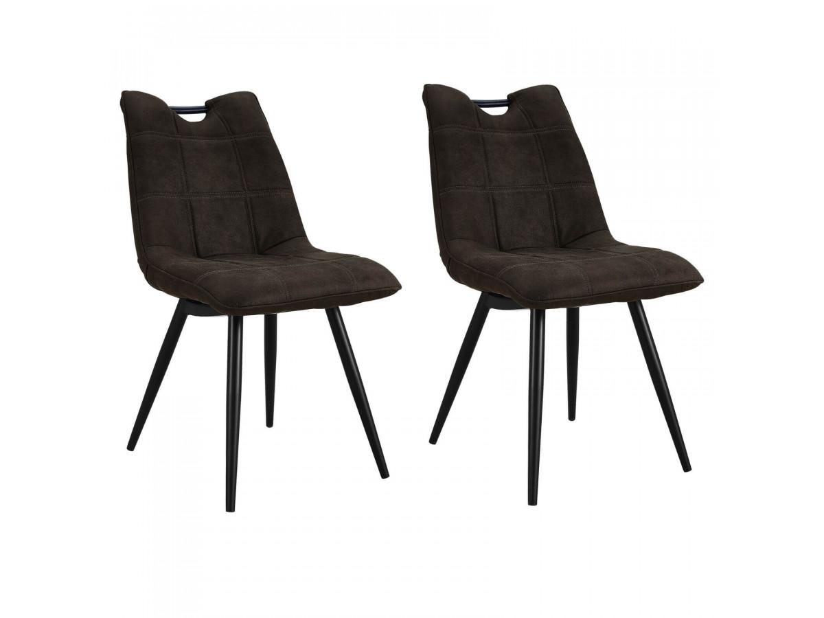 Lot de 2 chaises marron foncé EILO vintage