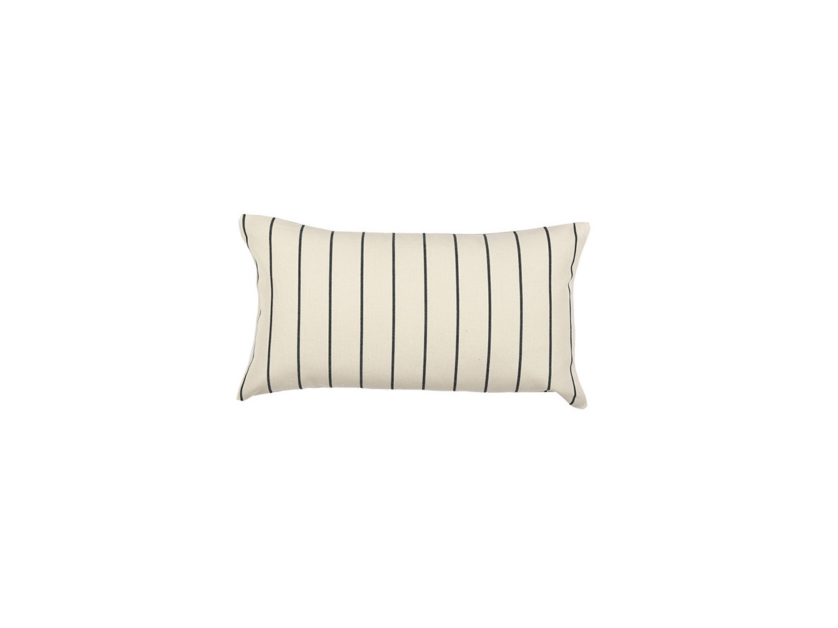 Coussin rectangulaire fines rayures SAUVELADE Beige