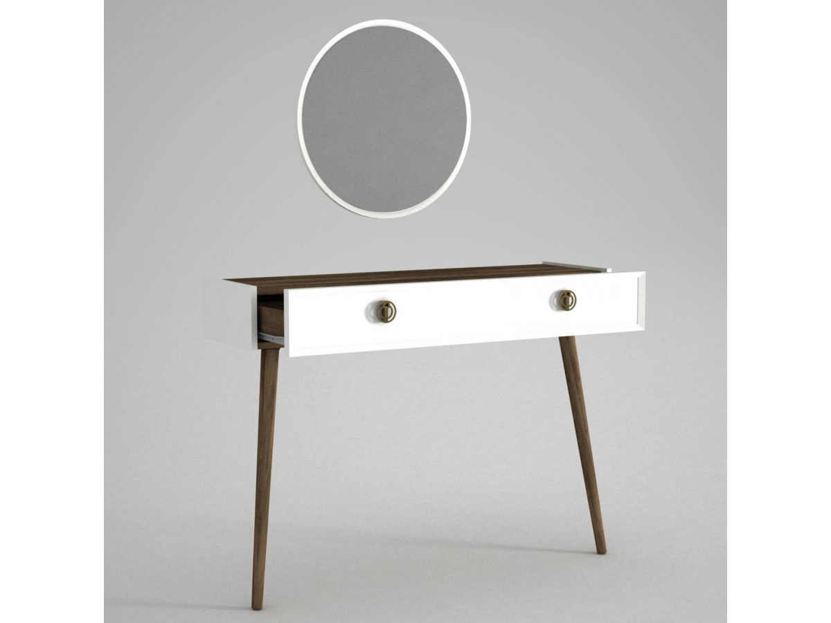 Consoles avec miroir ELKA Blanc Noyer