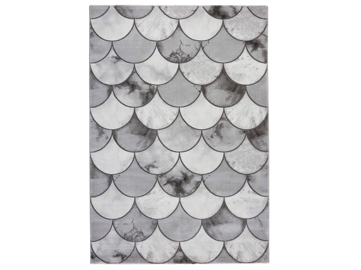 Tapis ELDA - Gris / Argent 120 x 170
