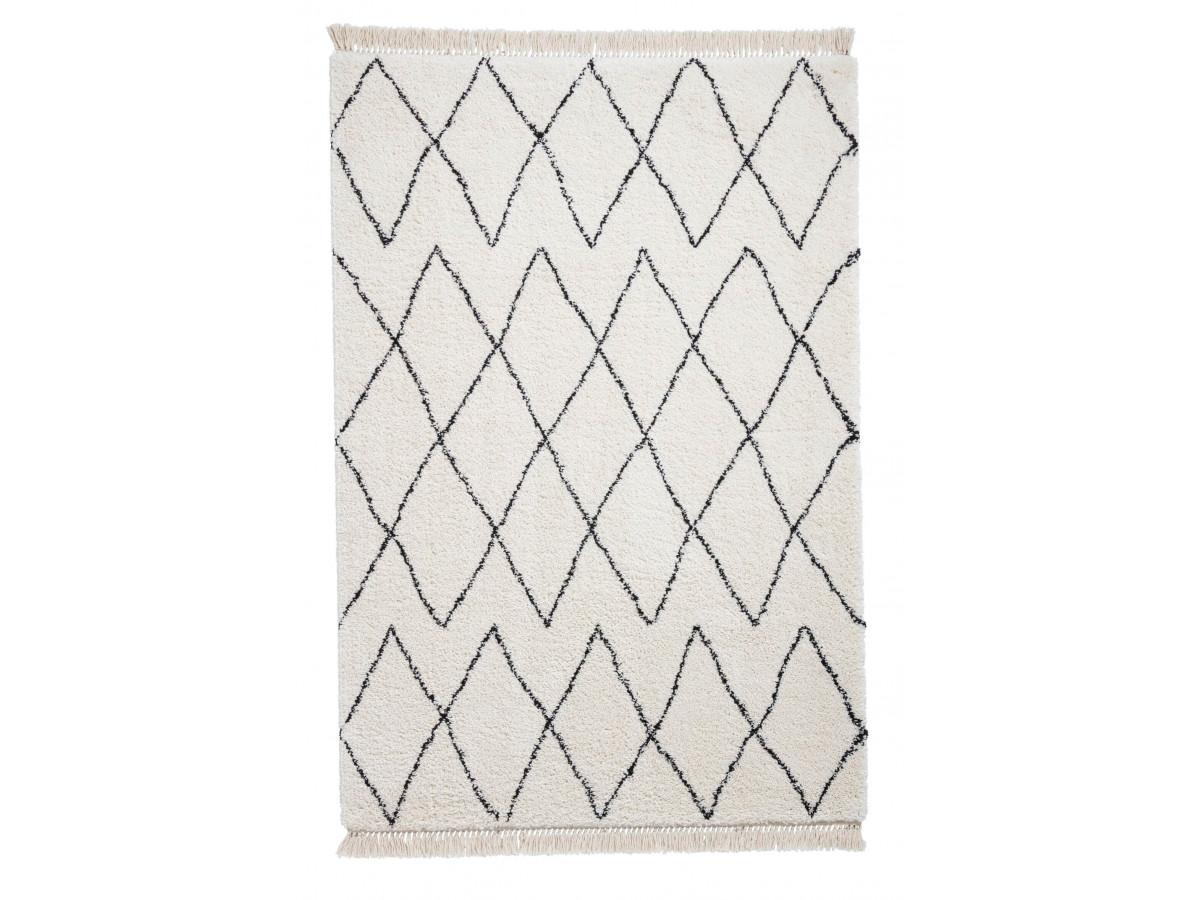 Tapis SARI Noir/ Blanc / 60 x 230