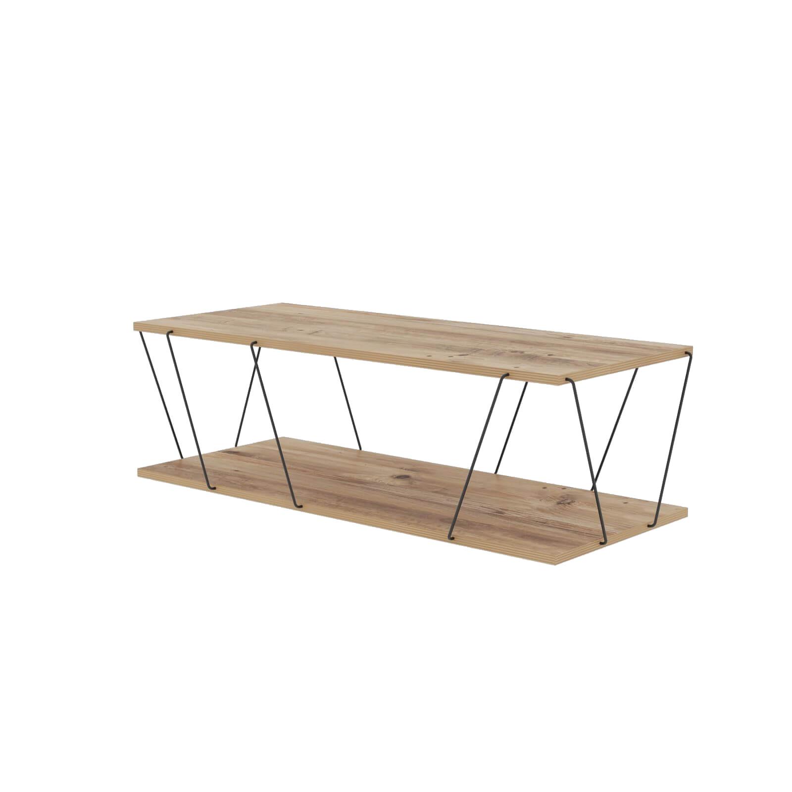 Table basse 120 cm SANA Bois/ Noir