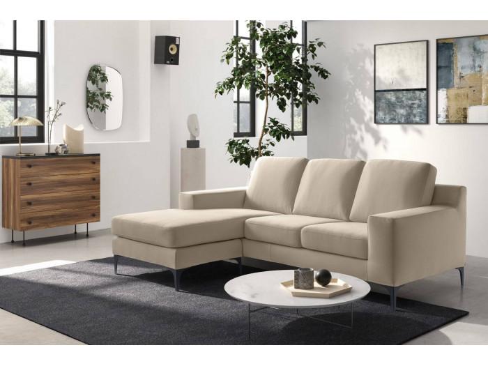 Canapé d'angle réversible fixe Haute Couture DINAMICO