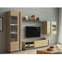 Meuble TV 188 cm ARCOMA Chêne et Gris