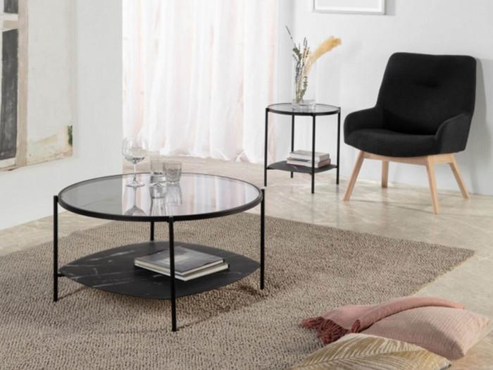 Table d'appoint DORI Noir et Gris