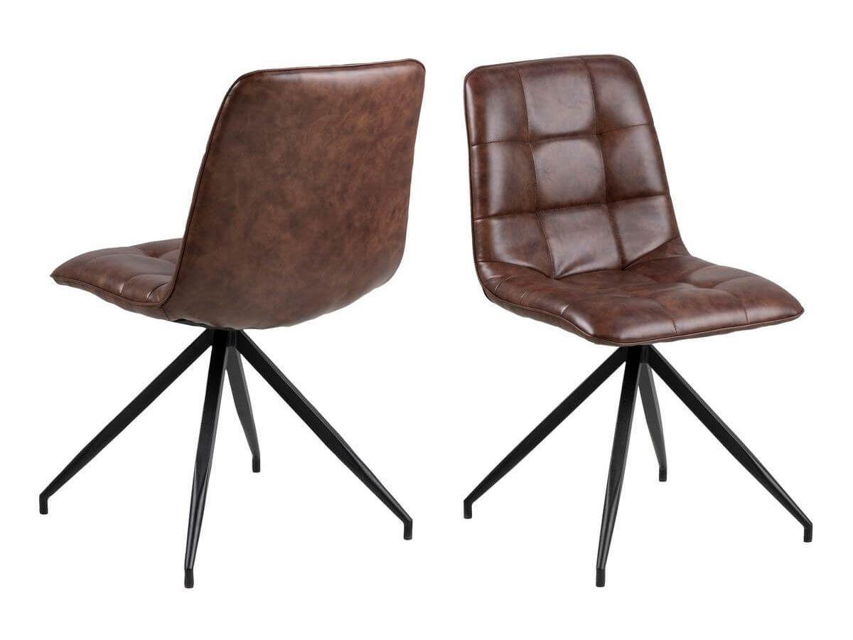 Lot de 2 chaises CAPOL marron