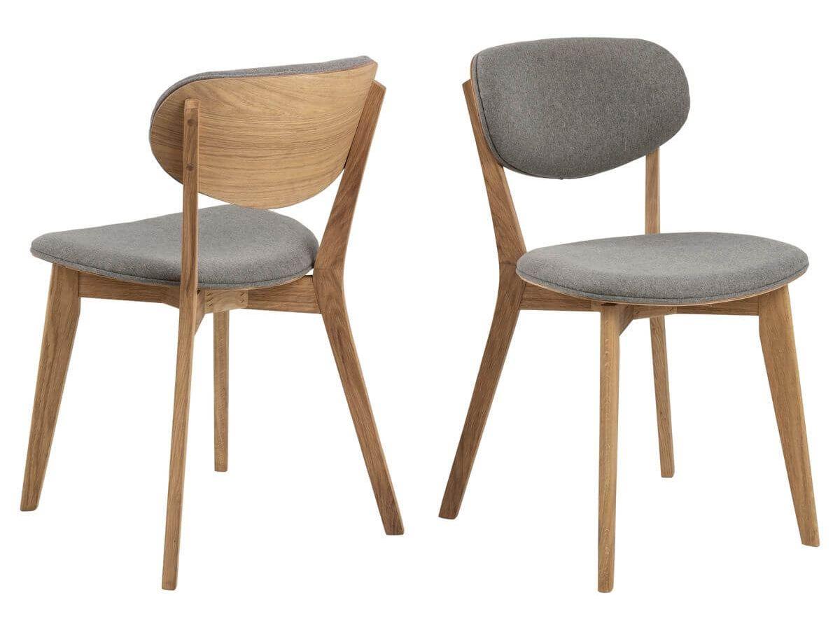 Lot de 2 chaises MINSKI gris