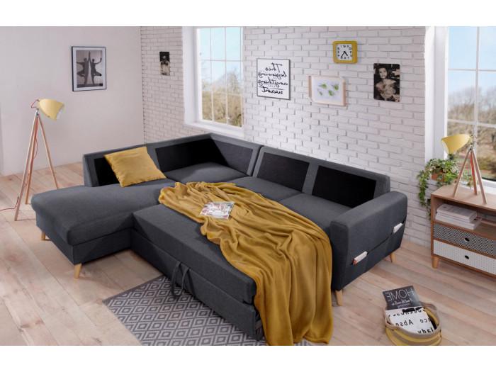 Canapé d'angle convertible Scandi L