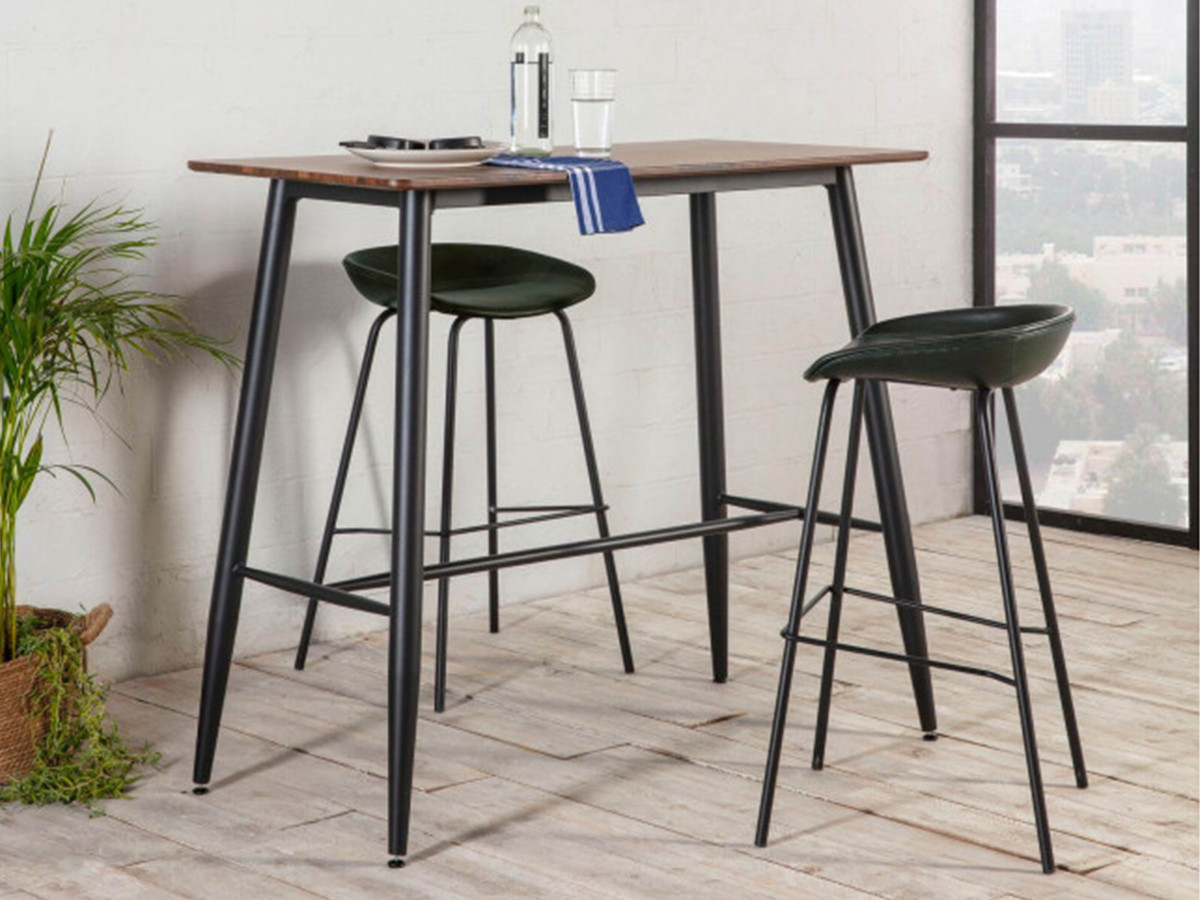 Table de bar KEN bois clair 120 x 60