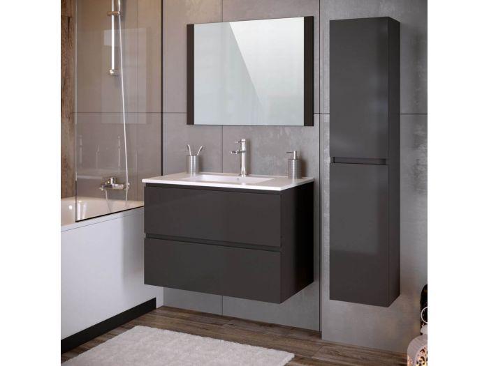 Ensemble de salle de bain 80 cm ALANI avec colonne