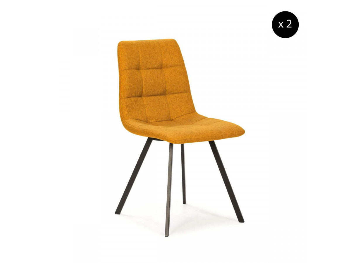 Ensemble de 2 chaises KITO moutarde