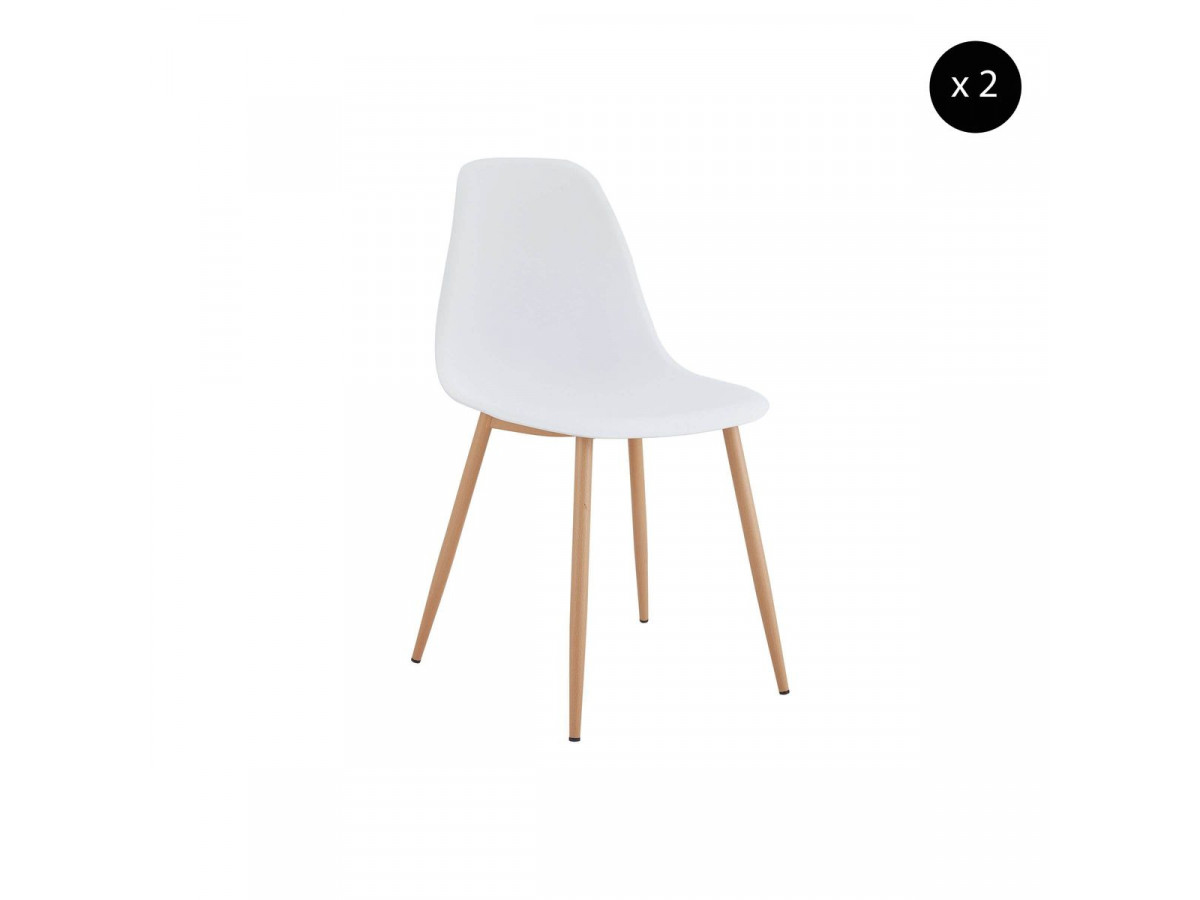 Lot de 2 chaises APLO Blanc