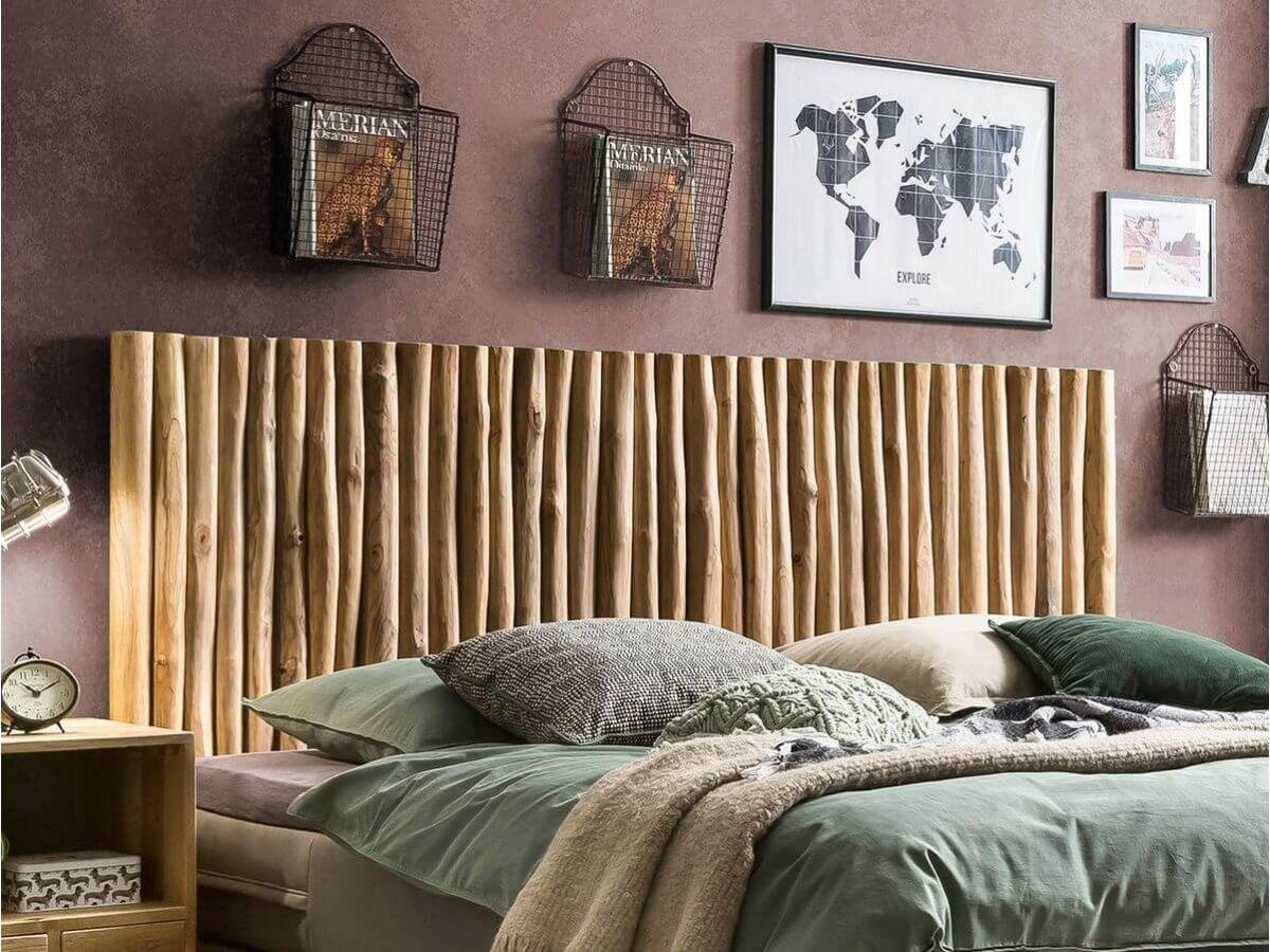 La tête de lit batons ROMANTICA 220 cm en bois massif