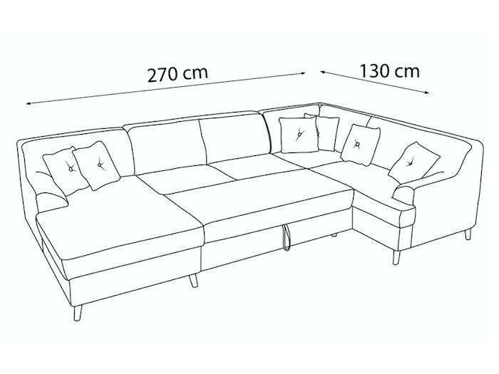 Canapé panoramique convertible ALFA