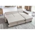 Canapé d'angle réversible convertible coffre ELEA