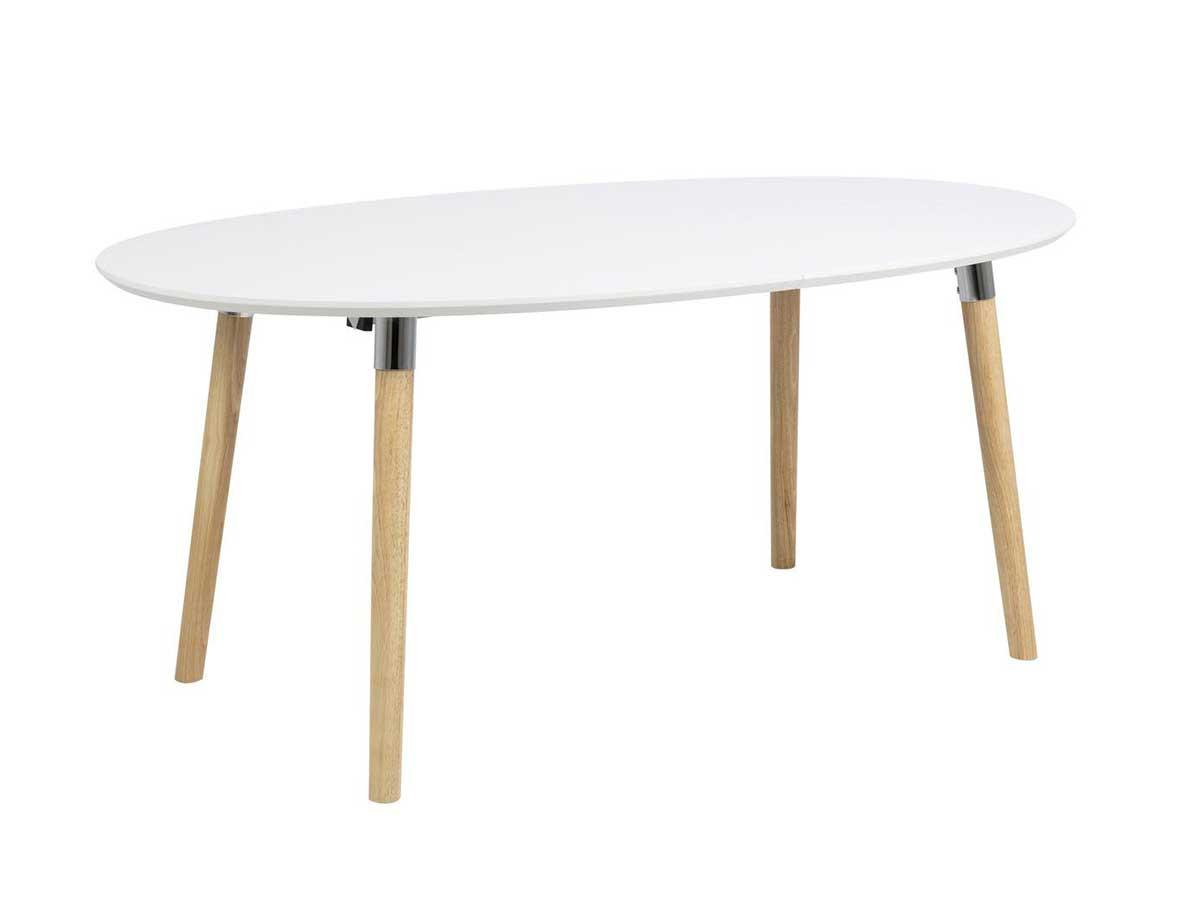 Table à manger 170 cm BELINDA Chêne et Blanc