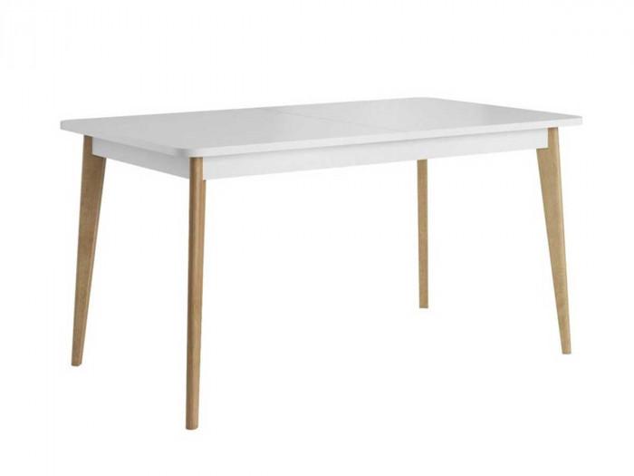 Table extensible 140 à 180 cm PRIMINO Couleur Bois Chêne et Blanc