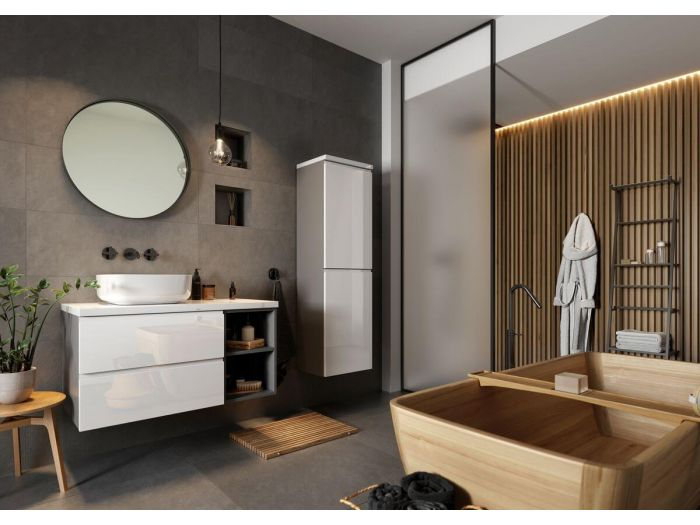 Ensemble de salle de bain 90 cm MIYO et colonne