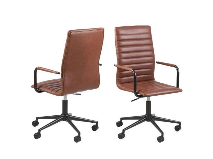 Chaise de bureau WINSLEY Marron