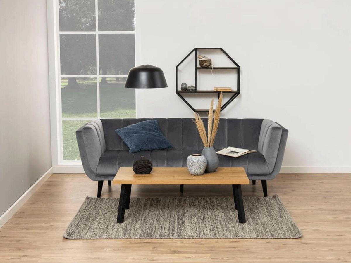 Table basse BLACKWOOD imitation chêne et noir