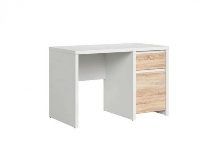 Bureau 120 cm PURITI blanc/chêne sonoma