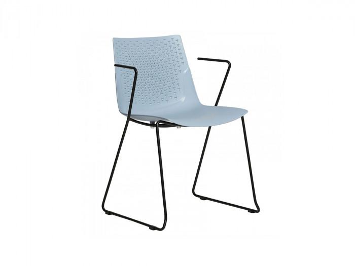 Ensemble de 4 chaises MILIO Bleu