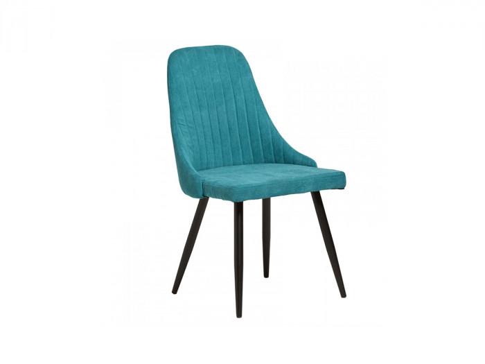 Ensemble de 2 chaises RONI Turquoise et Noir