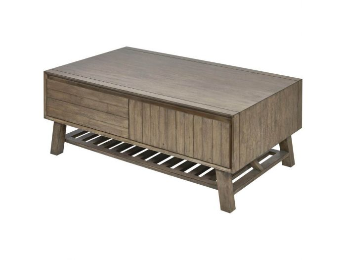Table basse 2 tiroirs Bois massif NOEMIE