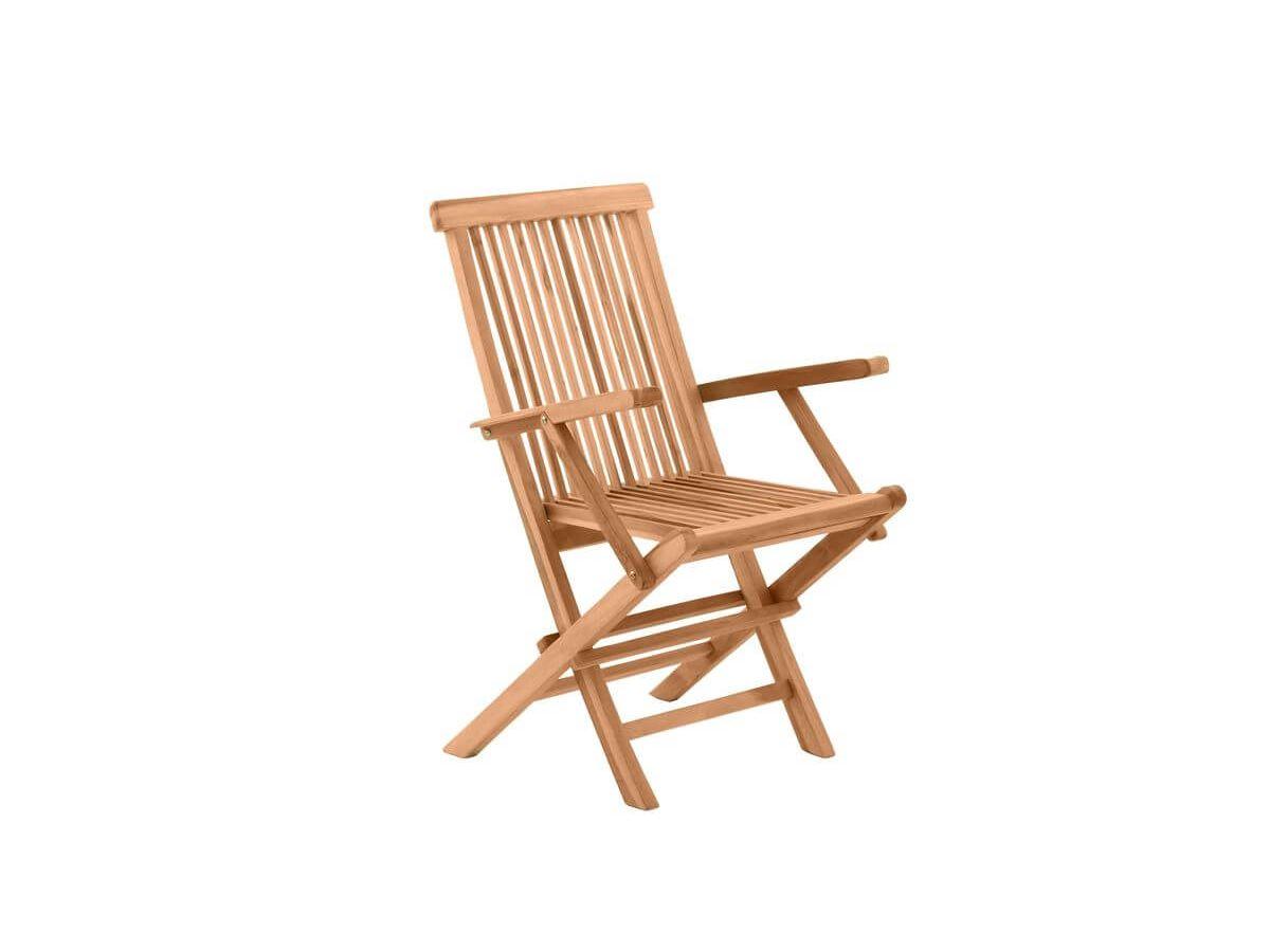 Ensemble de 2 chaises de jardin PIRINEAS bois clair naturel