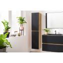 Ensemble de salle de bain 80 cm AKELA avec colonne chêne et noir