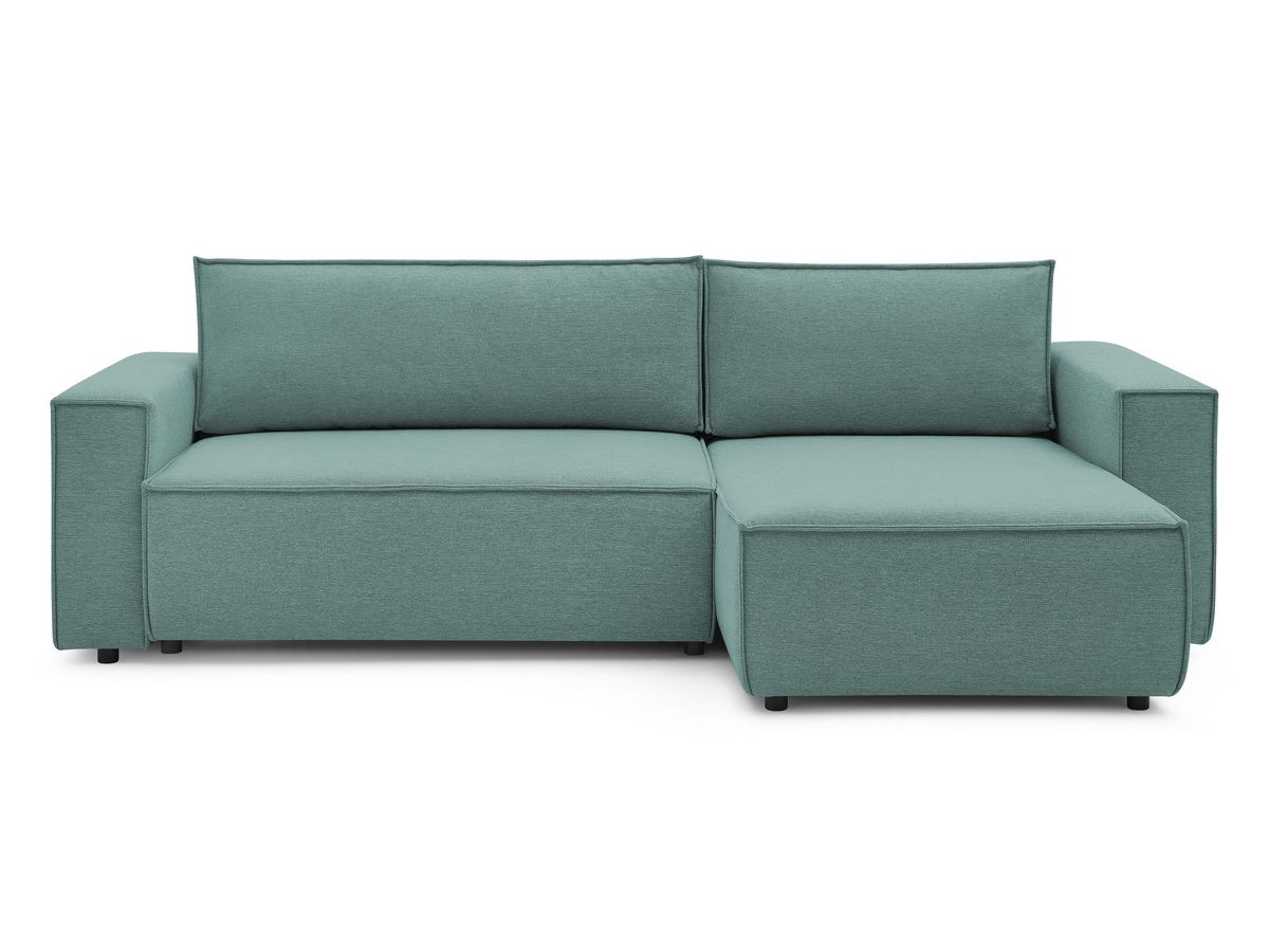 Canapé d'angle convertible réversible coffre NIHAD tissu